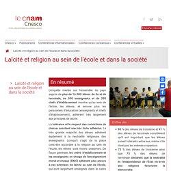 Laïcité et religion au sein de l'école et dans la société