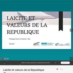 Laïcité et valeurs de la République by cornu.beauger on Genially