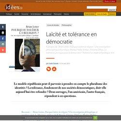Laïcité et tolérance en démocratie