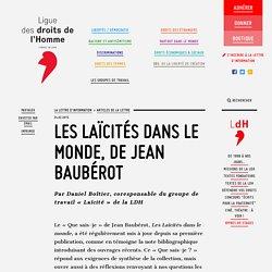 Les Laïcités dans le monde, de Jean Baubérot