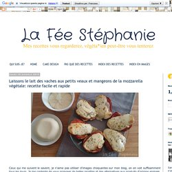 La Fée Stéphanie: Laissons le lait des vaches aux petits veaux et mangeons de la mozzarella végétale: recette facile et rapide