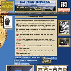 Lake County Archaeology, Home Page