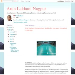 Arun Lakhani Nagpur: DNC Indoor Badminton Hall to be open on Saturday 14th May