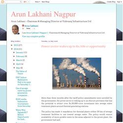 Arun Lakhani Nagpur: Power sector wakes up to Rs.30k-cropportunity