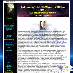 Lakhovskys Multi-Wave Oscillator