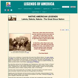 Lakota, Dakota, Nakota - The Great Sioux Nation