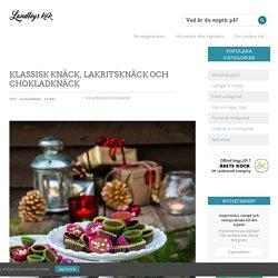 Knäck – Recept – Klassisk, Lakritsknäck och Chokladknäck