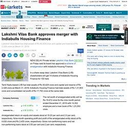 Lakshmi Vilas Bank approves merger with lndiabulls Housing Finance