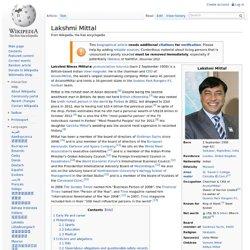 Lakshmi Mittal - Wikipedia, the free encyclopedia