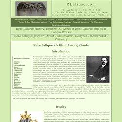 Rene Lalique Biography - Rene Lalique History: RLalique.com