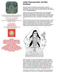 Lalita Tripurasundari, the Red Goddess
