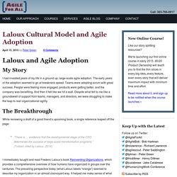 Laloux Cultural Model and Agile Adoption - Agile For All