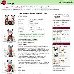 """""""KIRA"""" - lalylala crochet pattern N° VII - Kangaroo pattern by Lydia Tresselt"""