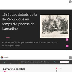 Lamartine en 1848 by hgchaumes89 on Genial.ly