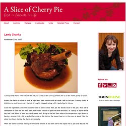 Lamb Shanks | A Slice of Cherry Pie