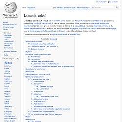 Lambda-calcul