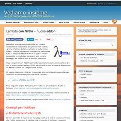 Lambda con NVDA - nuovo addon
