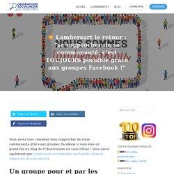 """⭐️ Lambersart le retour : """"se rapprocher de sa communauté, c'est TOUJOURS possible grâce aux groupes Facebook !"""" – Blog MyObservatoire"""