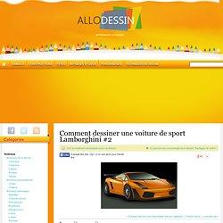 Comment dessiner une voiture de sport Lamborghini #2