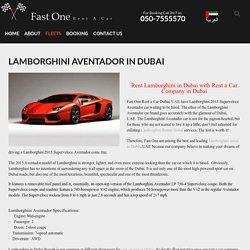 Lamborghini in Dubai
