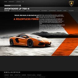 Overview < LP 700-4 < Aventador < Models