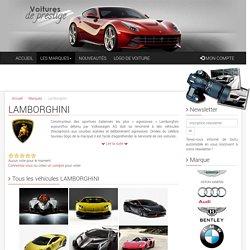 Lamborghini : toutes les informations de la marque Lamborghini