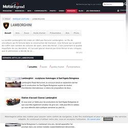 LAMBORGHINI - actualité, annonces, essai, guide d'achat, vidéo, photo - Motorlegend
