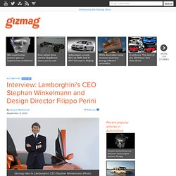Interview: Lamborghini's CEO Stephan Winkelmann and Design Director Filippo Perini