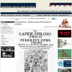 Lambsprinck - dal De Lapide Philosophico Libellus lambsprinck, lapide philosophico, alchimia, iconografia alchemica