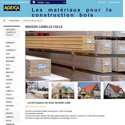 Kit maison bois lamellé collé pour construction mur plancher toiture Alsace - AGEKA
