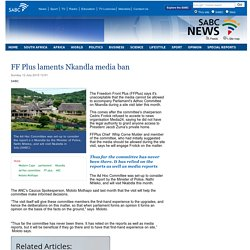 FF Plus laments Nkandla media ban:Sunday 12 July 2015