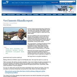 Vavi laments Nkandla report :Wednesday 17 June 2015