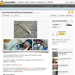 Laminated Wood Bicycle Mudguards