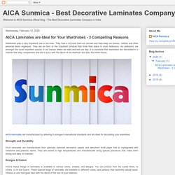 AICA Laminates are Ideal for Your Wardrobes - 3 Compelling Reasons