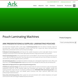 2nd Hand Laminator - Ark Presentation