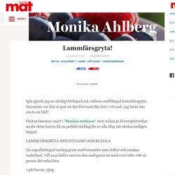 Lammfärsgryta! – Monika Ahlbergs Mat