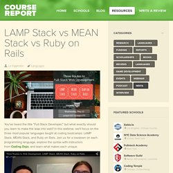 LAMP Stack vs MEAN Stack vs Ruby on Rails - Course Report