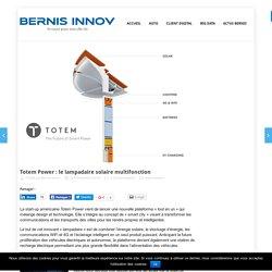 Totem Power : le lampadaire solaire multifonction - Bruno Pennel