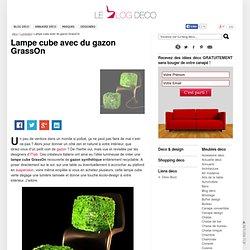 Lampe cube avec du gazon GrassOn