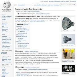 Lampe à diode électroluminescente