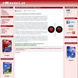 Quiz Patente: Luci rosse lampeggianti alternativamente