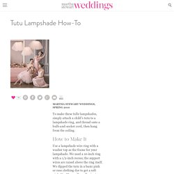 Tutu Lampshade How-To