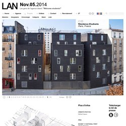 Un exemple d'insertion urbaine [LAN architecture - RESIDENCE ETUDIANTE]