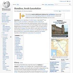 Hamilton, South Lanarkshire