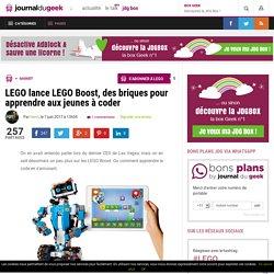 LEGO lance LEGO Boost, des briques pour apprendre aux jeunes à coder