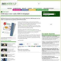 SFR lance une carte SIM écologique