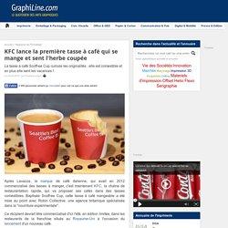 KFC lance la première tasse à café qui se mange et sent l'herbe coupée
