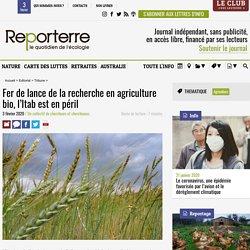 Fer de lance de la recherche en agriculture bio, l'Itab est en péril