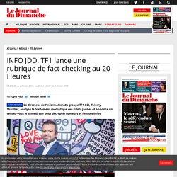 INFO JDD. TF1 lance une rubrique de fact-checking au 20 Heures