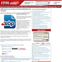 EBP lance un service d'externalisation de la paye